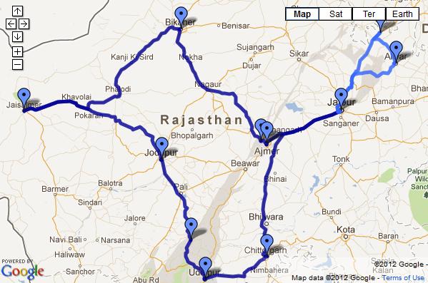 JAR 2012 - Travel map